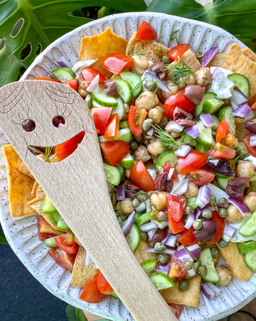 Vegan Greek Nachos