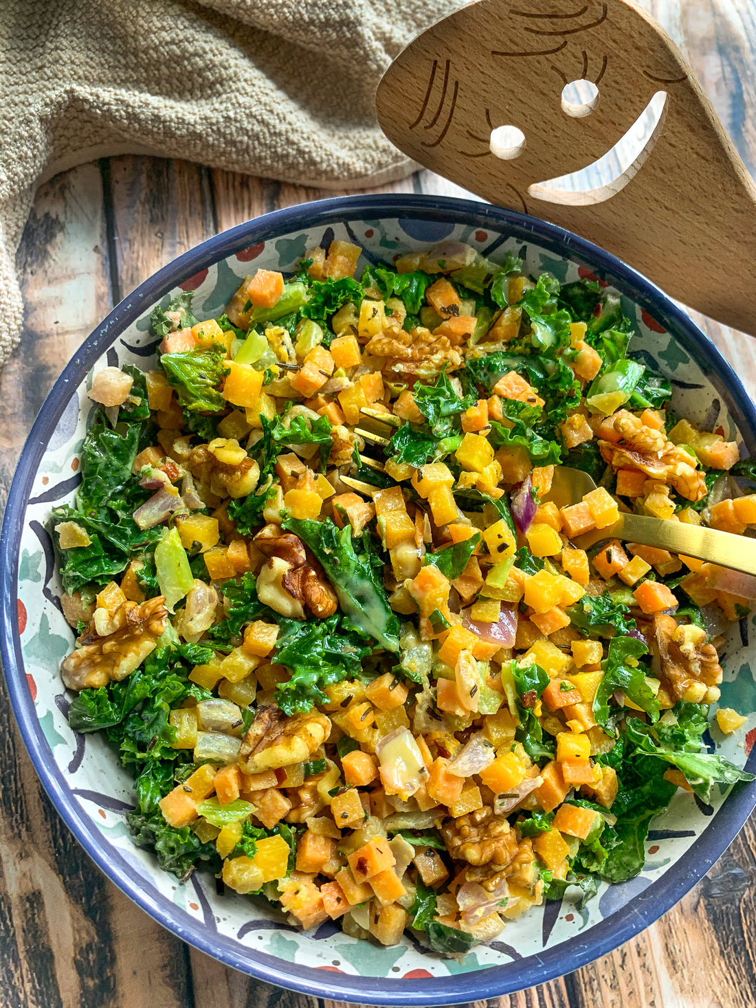 Holiday Hash Salad with Maple Tahini Dressing