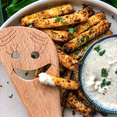 Cuban Style Jicama Fries with Creamy Mojo Sauce