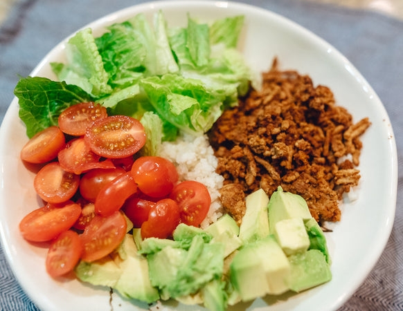 Cauliflower Rice Taco Bowl