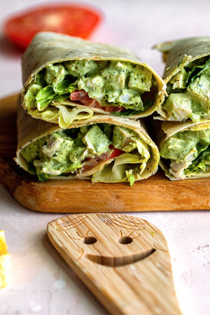 Pesto Chicken Salad Wrap