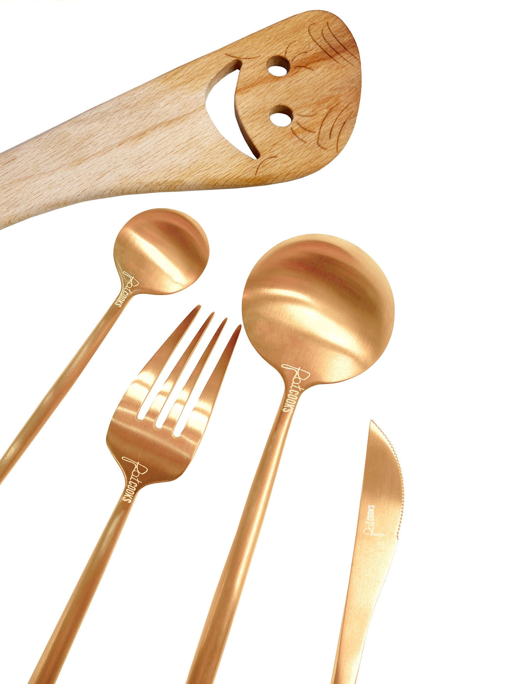 One Person Golden Hour Flatware Set