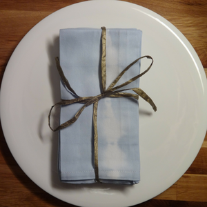 sky blue hand dyed cotton napkins