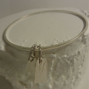 sterling silver contemporary shard bracelet