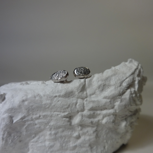 silver small nugget studs