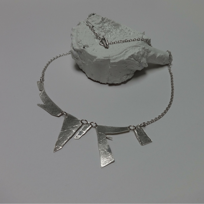 contemporary sterling silver shard necklace