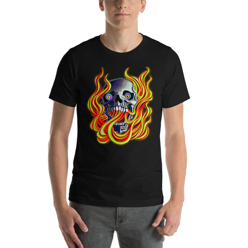 Flame Skull - Twisted Demon Art Shirts
