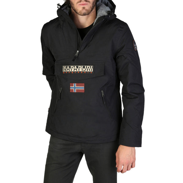 Napapijri Napapijri - RAINFOREST_N0YGNL Brand_Napapijri, Category_Clothing, Color_Black, Gender_Men, Season_Fall/Winter, Subcategory_Jackets Clothing Jackets 5400552322868 Threesixty Clothing