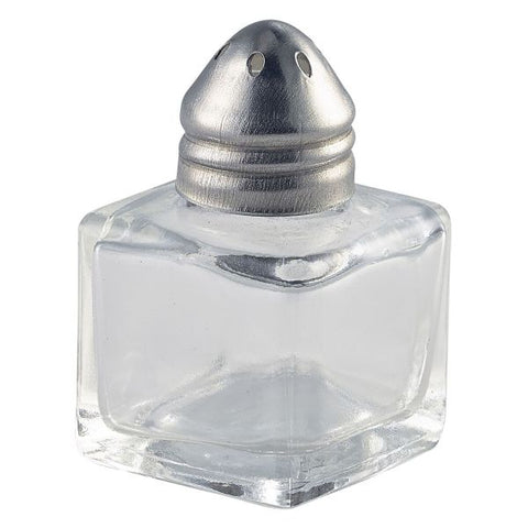 Individual Glass Pepper Pot 30 x 30 x 50mm - Euro Catering UK Ltd
