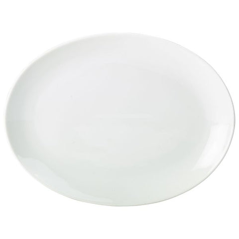 "Royal Genware Oval Plate 25.4 cm / 10"" - Euro Catering UK Ltd"