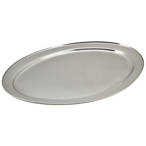 "S/St Oval Flat 24"" - Euro Catering UK Ltd"