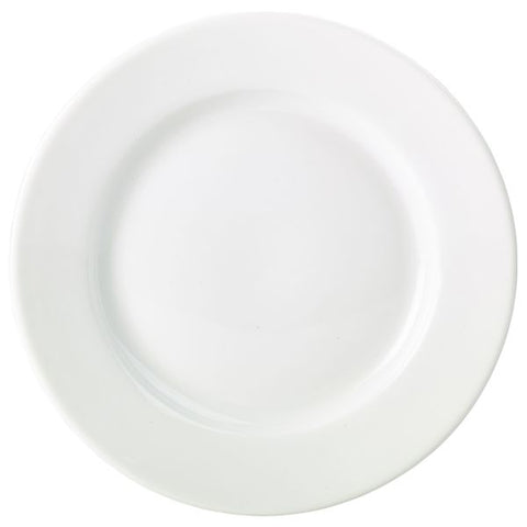 Royal Genware Classic Winged Plate 17cm White
