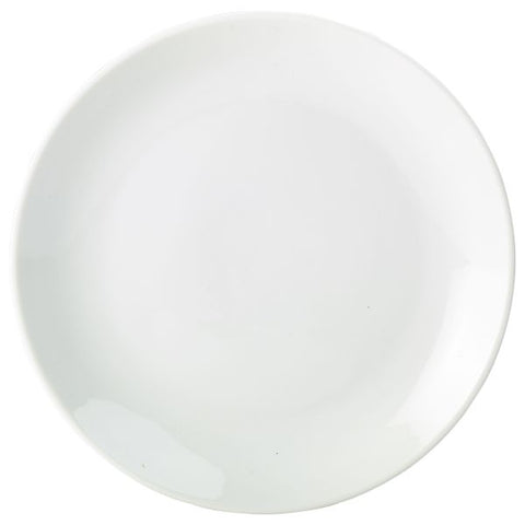 Royal Genware Coupe  Plate 24cm White - Euro Catering UK Ltd