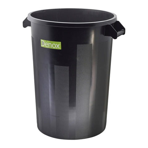 Black Dust Bin 100L - Euro Catering UK Ltd