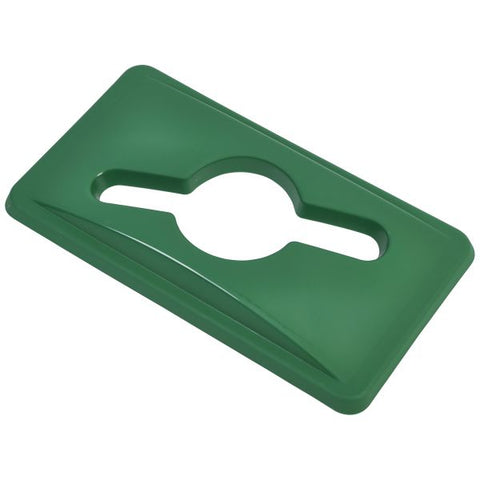 Green Glass Lid For Slim Recycling Bin - Euro Catering UK Ltd