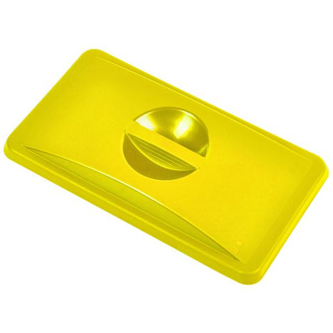 Yellow Closed Lid For Slim Recycling Bin - Euro Catering UK Ltd