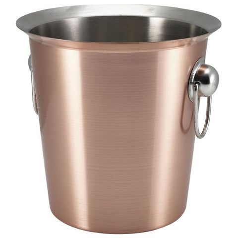 Copper Wine Bucket With Ring Handles - Euro Catering UK Ltd