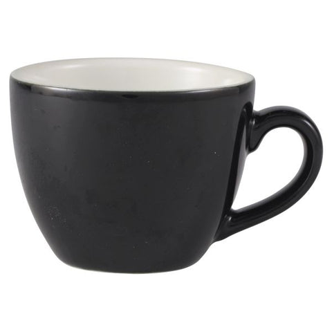 Royal Genware Bowl Shaped Cup 9cl Black - Euro Catering UK Ltd