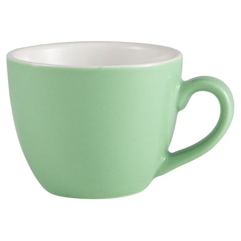 Royal Genware Bowl Shaped Cup 9cl Green - Euro Catering UK Ltd