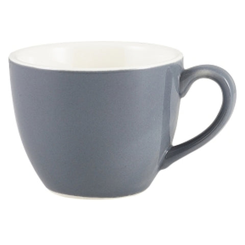 Royal Genware Bowl Shaped Cup 9cl Grey - Euro Catering UK Ltd