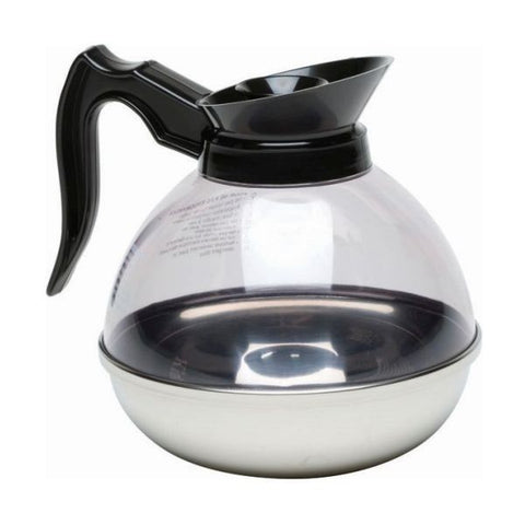 Coffee Decanter Clear Top/S/St.Base 1.9L/64oz