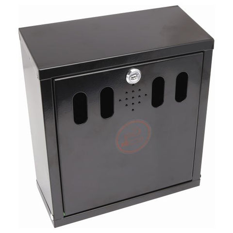 Genware Black Wall-Mounted Outdoor Ashtray