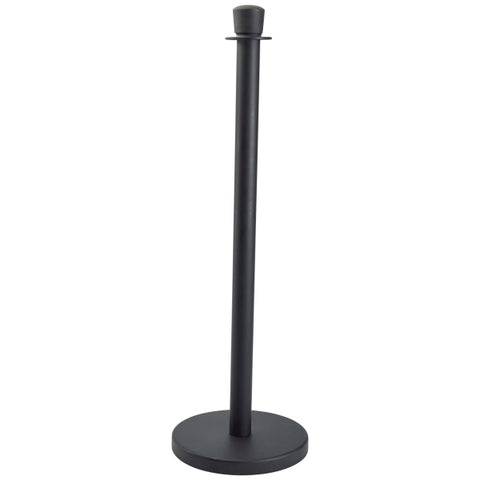 Genware Black Barrier Post