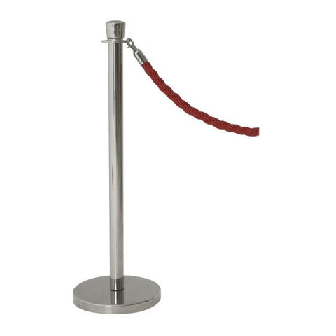 Genware Stainless Steel Barrier Post - Euro Catering UK Ltd