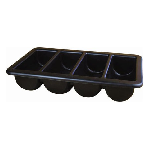 "Cutlery Tray/Box 1/1 Black 13"" X 21"""