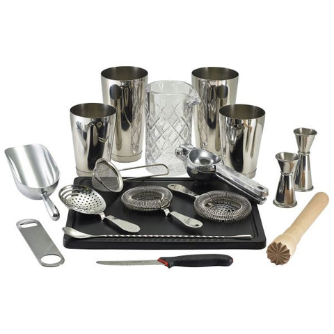 Cocktail Bar Kit Silver 18pcs