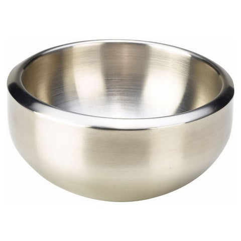Stainless Steel Double Walled Dual Angle Bowl