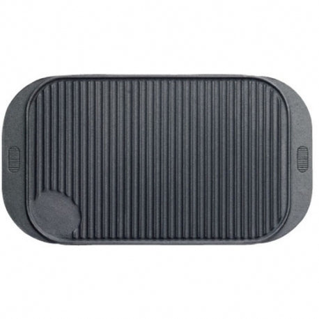 GRIDDLE PLATE. REVERSIBLE DOUBLE SIDED. RIBBED AND PLAIN