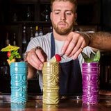 Purple Tiki Mug 40cl/14oz