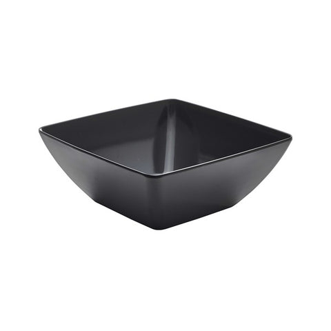 Black Melamine Curved Square Bowl 26.2cm