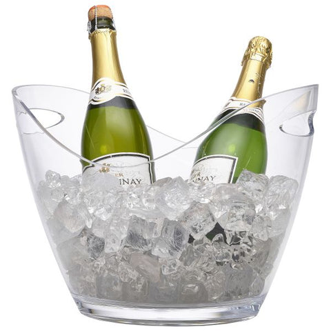 Clear Plastic Champagne Bucket Large - Euro Catering UK Ltd