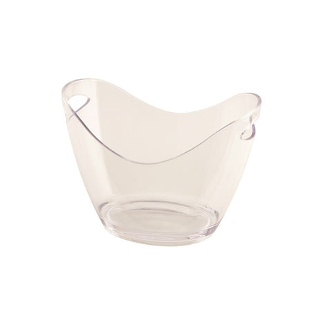 Clear Plastic Champagne/Wine Bucket Small - Euro Catering UK Ltd