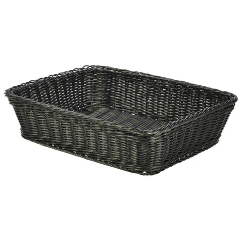 Polywicker Display Basket Black 36.5 x 29 x 9cm