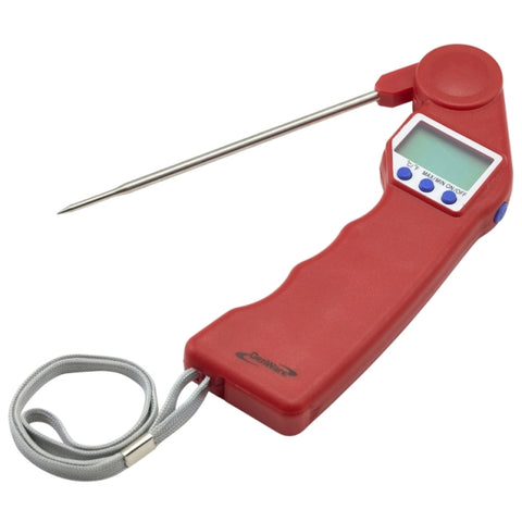 Genware Red Folding Probe Pocket Thermometer - Euro Catering UK Ltd