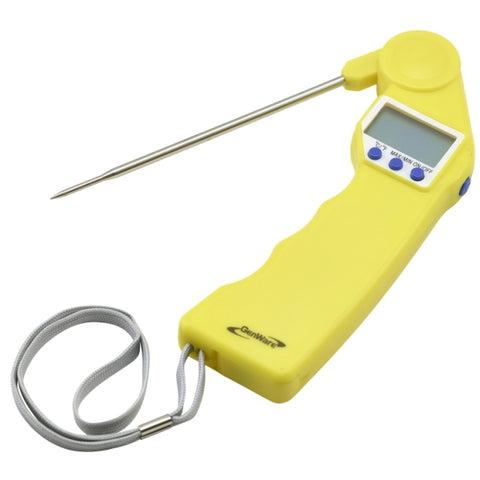 Genware Yellow Folding Probe Pocket Thermometer - Euro Catering UK Ltd