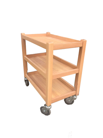 NATURAL WOOD TROLLEY