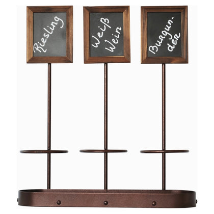 Wine Bottle x3 Chalk Board Display 45 x 38.5cm