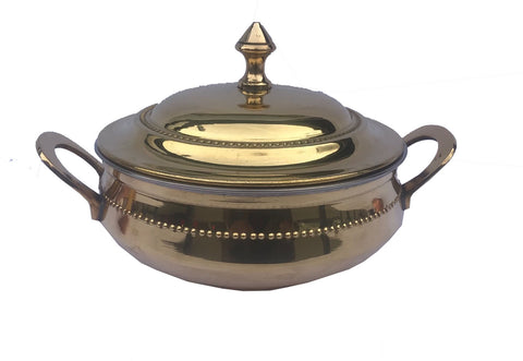 BRASS HANDI WITH LID