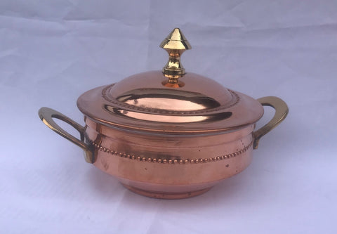COPPER HANDI SET WITH LID