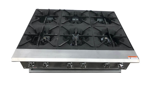 Commercial Cookers 6 burner