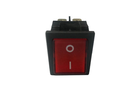 RED ROCKER SWITCH 16A 4 PIN - SPARE PART - Euro Catering UK Ltd