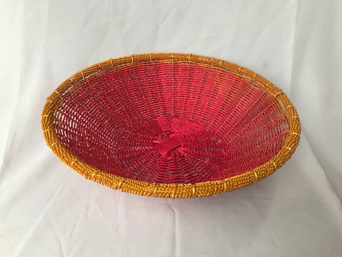 WIRE ROUND BASKET IN RED