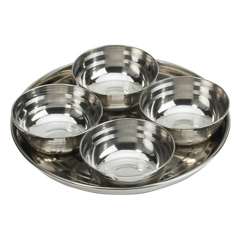 STAINLESS STEEL ROUND RELISH SET