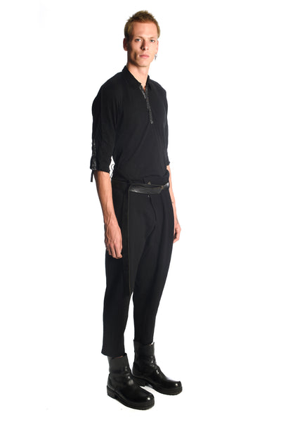Wool Twisted Pleated Pants