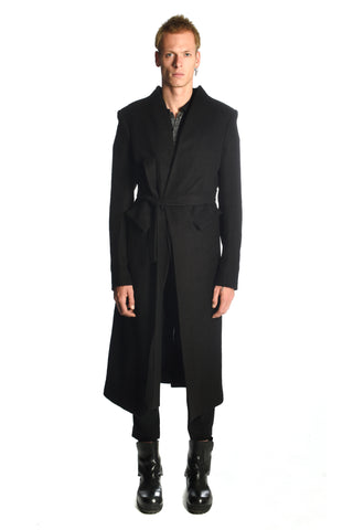 Black Camelwool Shawlcollar Coat