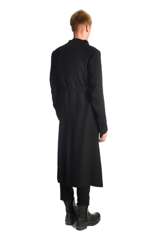 Black Camelwool Shawlcollar Coat — last one size 48